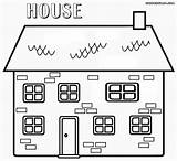 Coloring Haunted Building Colorings sketch template