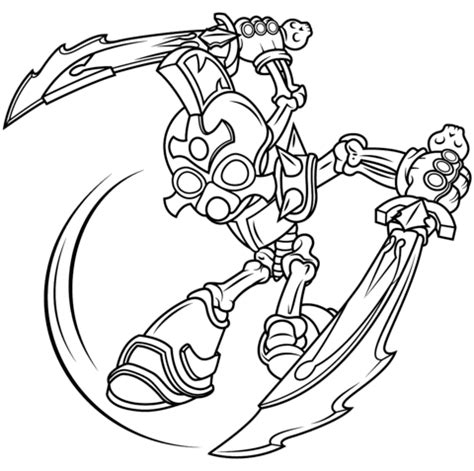 Hex Skylanders Giants Free Colouring Pages