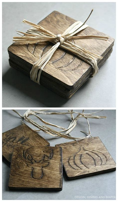 diy wood coasters wood burning crafts dremel projects