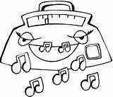 Radio Som Colorir Coloring Colorare Desenhos Disegno Notes Dibujosa Kolorowanki Carros Misti Dibujos Drawing Colorear Kolorowanka Imprimir Disegni Immagine Pintar sketch template
