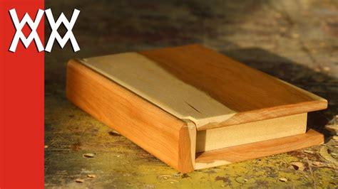 wooden book keepsake box valentines day gift idea youtube