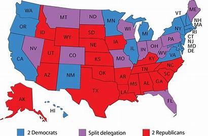Senate Republican Map Party Control Edge States