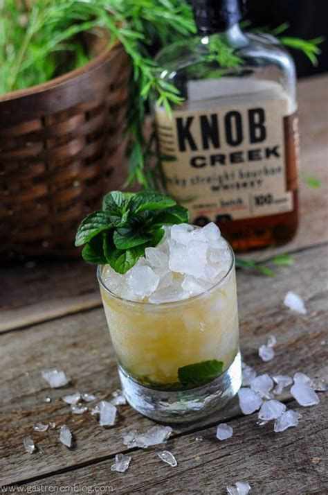 knob creek recipes kentucky derby mint julep recipe cocktails knobs and