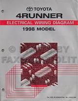 1996 Toyota 4runner Wiring Diagram Manual Original