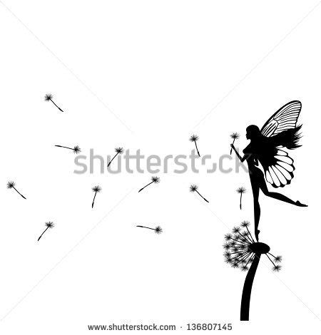 fairy silhouette stock  images pictures