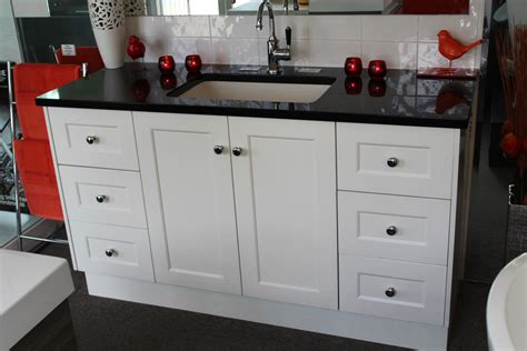 custom mm vanity unit  black granite top
