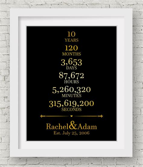 10th anniversary gift ideas 10th anniversary gift for him wedding gift ideas bridal shower