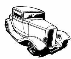 1936 ford coupe hot rod clip art automotive clip art With 1941 ford coupe red