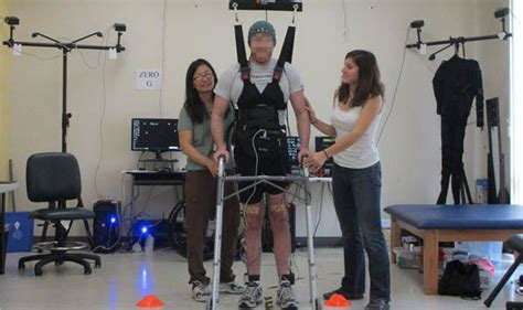 How paralyzed legs walking with closer look? Paraplegic walks 12ft in breakthrough treatment for paralysis   World   News   Express.co.uk