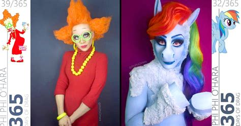 Drag Queen Turns Herself Into Cartoon Characters Straight