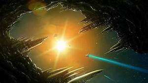Sun, Outer, Space, City, Fantasy, Art, Spaceships, Science, Fiction, Artwork, 1920x1080, Wallpaper