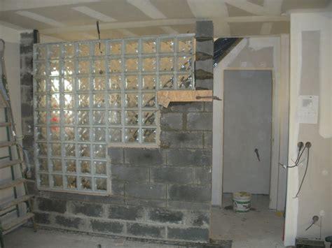 mur briques de verre 3 notre l avancement de notre maison castor 224 evin malmaison
