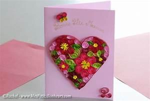 tuto carte fete des meres quilling rachel http www With affiche chambre bébé avec offrir fleurs