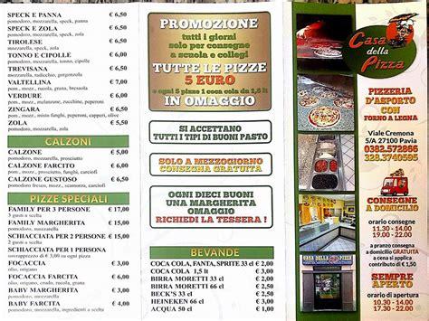 Casa Della Pizza Pavia by Casa Della Pizza Consegna A Domicilio Home Pavia