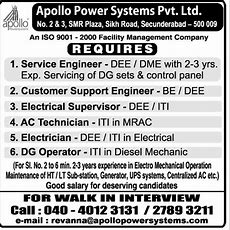 Job  Electrician  Hyderabad  Engineering, Civil And