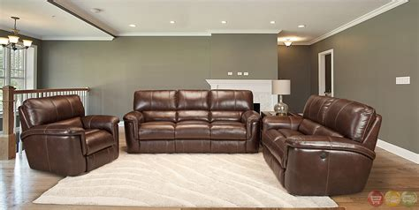 brown leather recliner sofa set parker living hitchcock contemporary brown leather 3pc