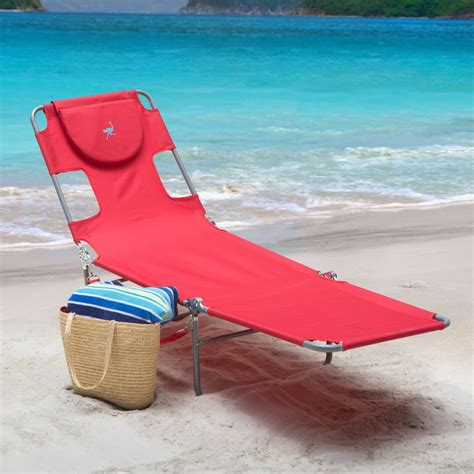 ostrich chair folding chaise lounge new reclining sun lounger portable chaise folding
