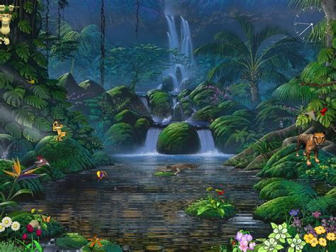Animated Wallpaper Screensavers - fascinating waterfalls free animated screensaver