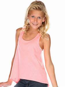 Skins Shorts Size Chart Girls 7 16 Jersey Scoop Neck High Low Tank