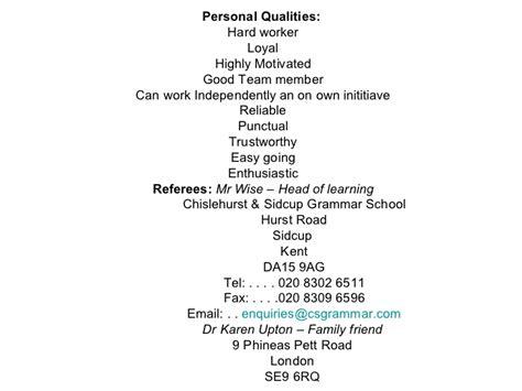 28 personal attributes exles for resume jose yanez