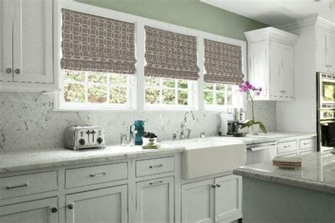 Above Kitchen Cabinet Decorative Accents by Roman Shades Traditional Kitchen Atlanta By Smith