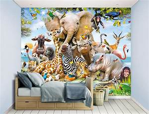 Children39s Jungle Safari Animals XL Wallpaper Mural Walltastic