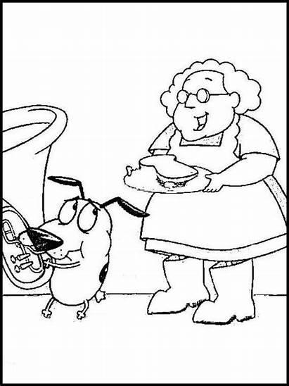 Websincloud Dibujos Coloring Coraje Pintar Coloriage Hund