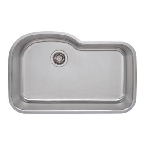 undermount offset single bowl sink wells sinkware 18 gauge offset single bowl undermount