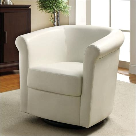 club chair in white faux leather 902087