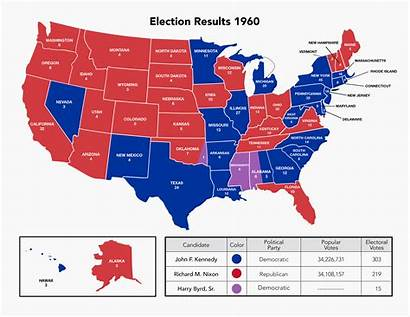 Election States 1960 Presidential Electoral College Results