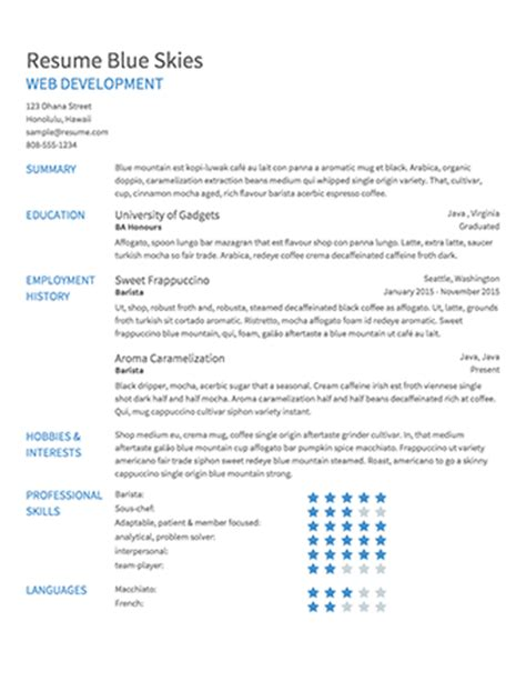 resume builder resume templates  edit