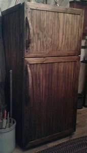 Wooden-covered fridge DIY & primitive crafts Pinterest