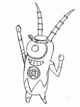 Coloring Plankton Robot Spongebob Netart Army Printable Getcolorings sketch template