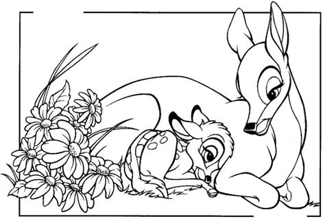 Bambi And His Mom Coloring