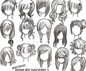 Drawing Girl Hair Styles How To Draw Anime Girl
