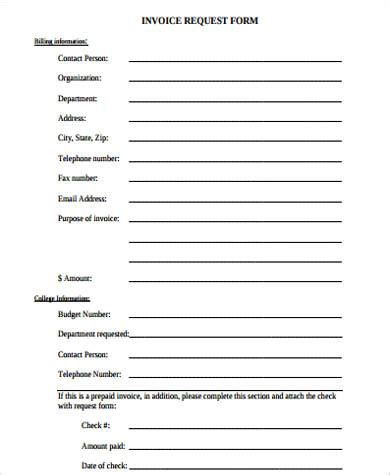 sample invoice form  examples