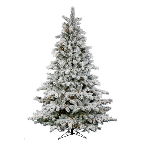 7 5 ft flocked downswept layer christmas tree led warm