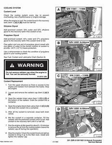 Bobcat X331 Excavator Oem Service And Repair Manual