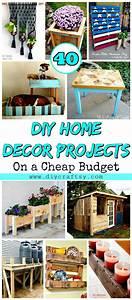 40, Diy, Home, Decor, Projects, On, A, Cheap, Budget, U22c6, Diy, Crafts