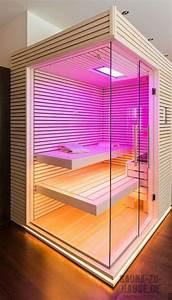 Sauna Mit Glasfront : sauna und mehr polarfichte buntes licht in der sauna ~ Orissabook.com Haus und Dekorationen