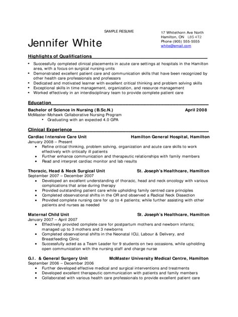 2018 Nursing Resume Template  Fillable, Printable Pdf