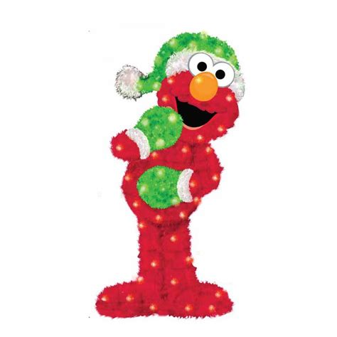 shop sesame workshop pre lit elmo sculpture with constant