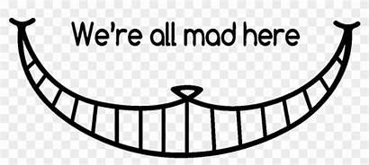 Cheshire Cat Mad Smile Coloring Pages Re