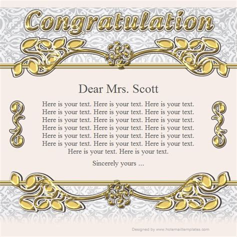congratulations template congratulation free html e mail templates