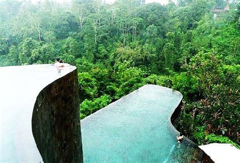 impressive pools  tropical forest great atmosphere