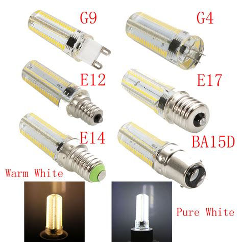 g9 g4 e12 e14 e17 ba15d 10w dimmable 152 3014smd led corn