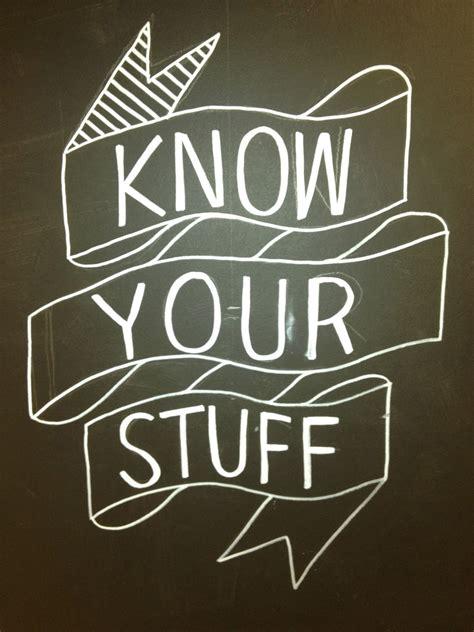 mformegan: Know Your Stuff