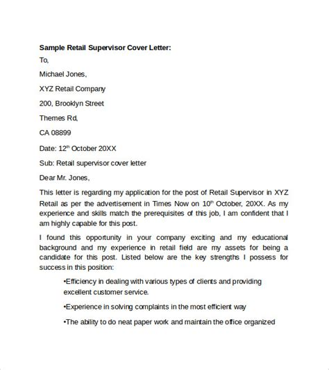 sample retail cover letter templates   ms word