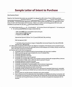 9 letters of intent to purchase property sample templates With letter of intent to buy a business template