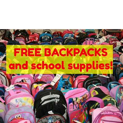 where to get free school supplies free backpacks and school supplies verizon 2017
